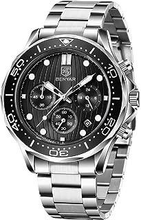 BENYAR - Stylish Wrist Watch for Men, Genuine Stainless Steel Strap, Perfect Quartz Movement,...