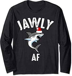 Jawly AF Funny Christmas Shark Costume Pajama Gift Long Sleeve T-Shirt