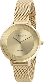 Stuhrling Casual Watch for Women - Stainless Steel, Gold, 589.03