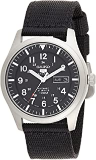 Seiko 5 Men Black Nylon Analog Watch - SNZG15J1