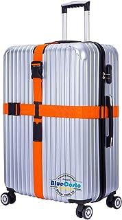 BlueCosto (Orange) Cross Luggage Straps Suitcase Travel Accessories Belt Non-slip
