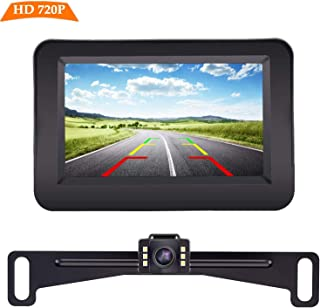 Yakry Y11 HD 720P Backup Camera and Monitor Kit 4.3 Inch Monitor Hitch Rear View License..
