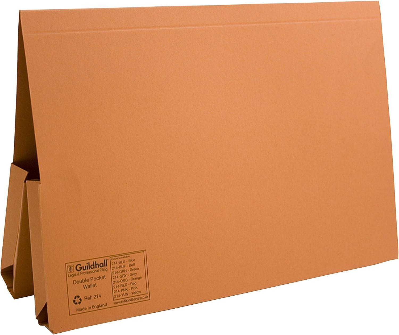 Guildhall Dokumentenmappe Doppeltasche Manila 315 g m² 2 2 2 x 35 mm Folio-Format 25 Stück Orange B000SHSL2O | Angenehmes Aussehen  af528d