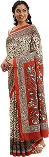 Pure Cotton Indian Handcrafted Kalamkari Print Saree Blouse Formal Woman Occasional Sari 6321 2