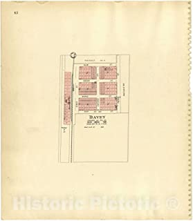 Historic 1903 Map - Plat Book of Lancaster County, Nebraska : containing Carefully Prepared Township plats, Village plats, Analysis of U.S. Land System - Davey 38in x 44in