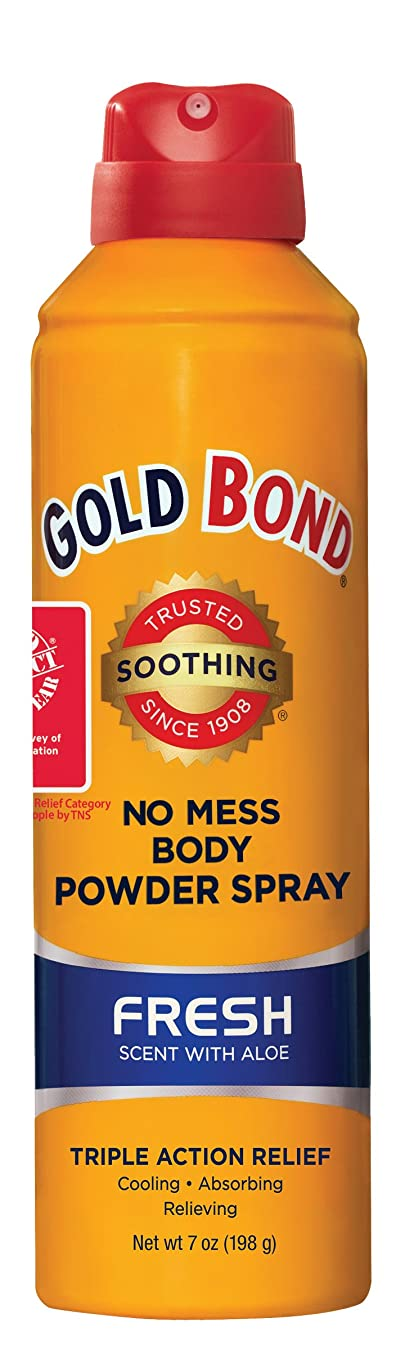 キリン引き付けるサイバースペース海外直送品Gold Bond No Mess Powder Spray, Fresh Scent With Aloe 7 oz by Gold Bond