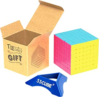 55cube 7x7 Cube Stickerless, Gift Package - More Smoothly Than Original 7x7 Cube