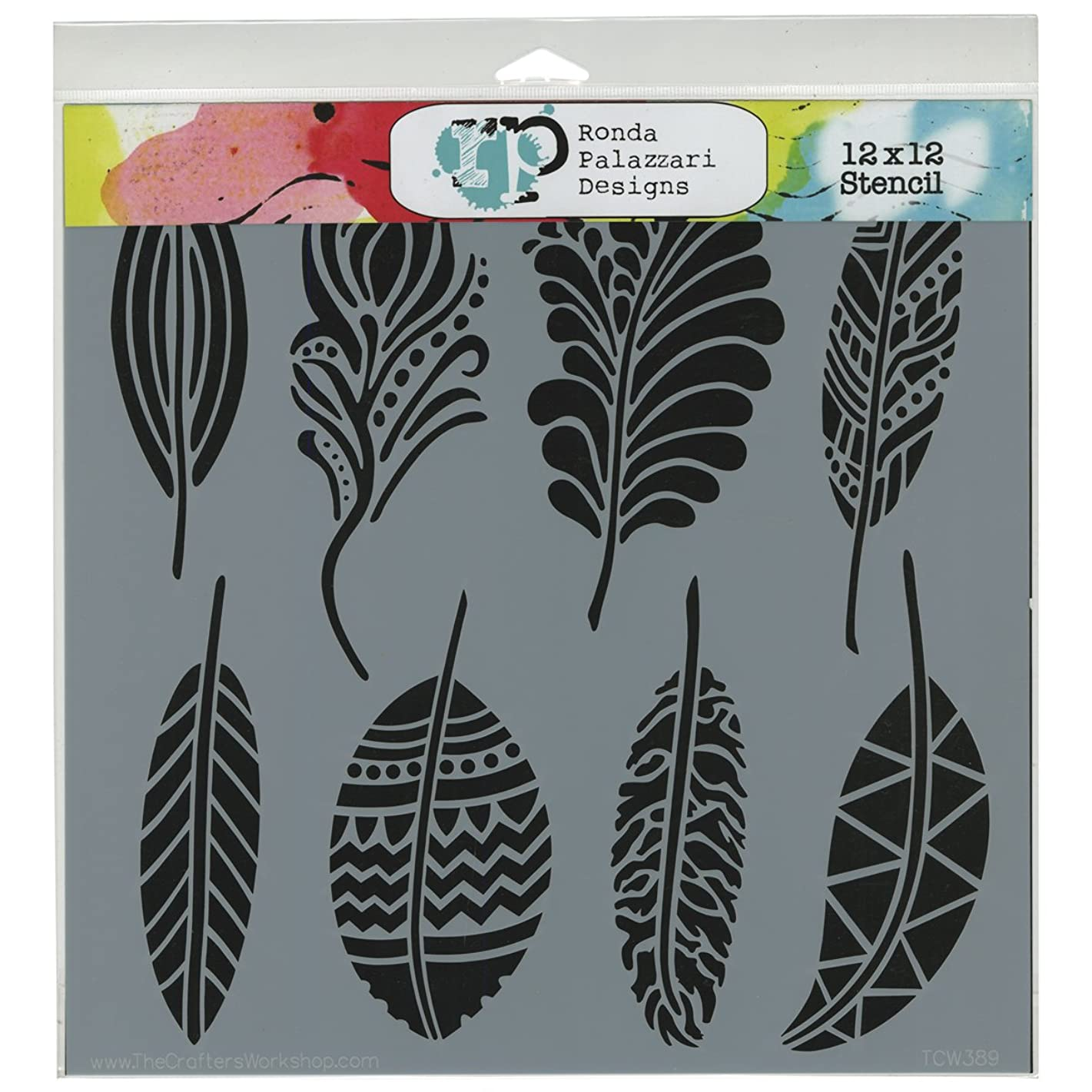 Commonwealth Basket TCW-389 Crafter's Workshop Template, 12 by 12-Inch, Fancy Feathers