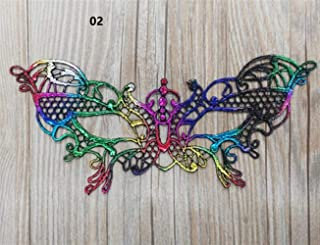 Perfect Party Decoration Holiday Accessories Halloween Party Hot Stamping Lace Mask Ladies Sexy Prom Veil(02)