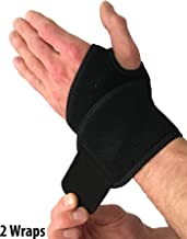 Wrist Wraps for Wrist Support – Wrist Compression Straps with Thumb Hole for Wrist Tendonitis, Arthritis & Carpal Tunnel. Alternative to a Wrist Brace or Wrist Splint. Left or Right Hands (2 Wraps)