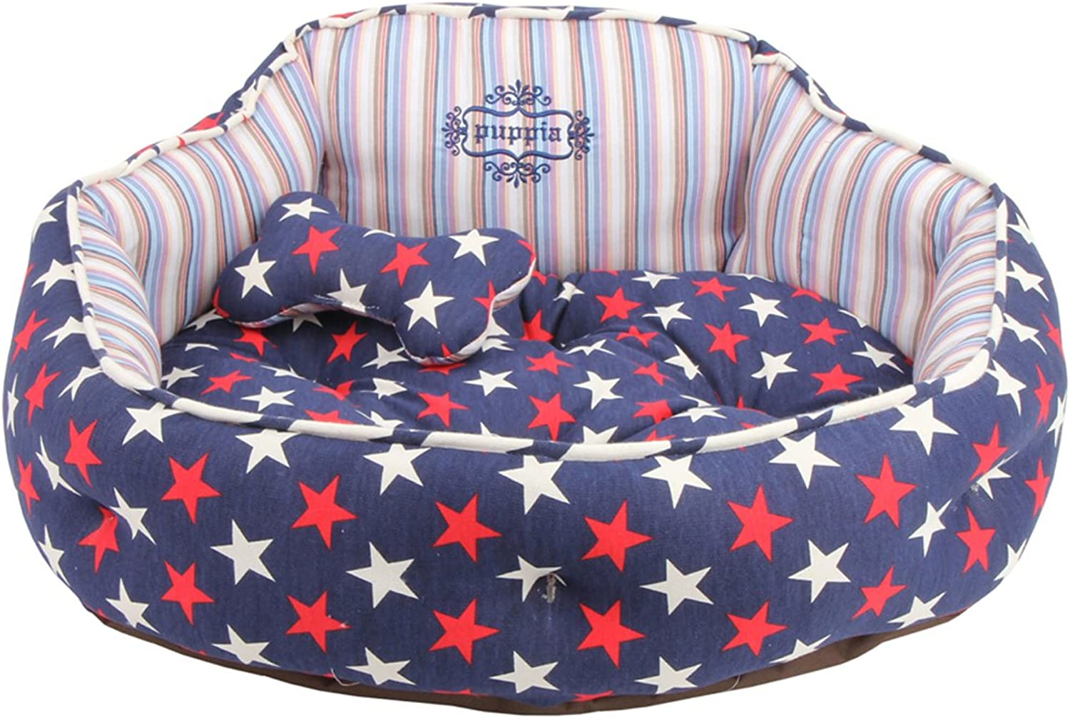 Puppia Authentic Starry Dog Bed, Navy