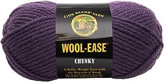 Lion Brand Yarn Lion Brand Wool-Ease Chunky Yarn (144) Eggplant,