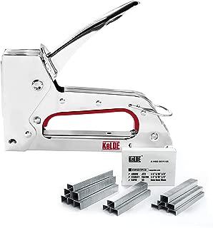 Hand Staple Gun Kit, KeLDE Light Heavy Duty Stapler Tacker fit JT21 Staples, Includes 1500pcs 1/4, 5/16, 3/8 Inch Staples Set