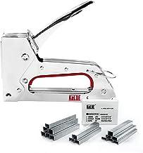 Hand Staple Gun Kit, KeLDE Light Stapler Tacker fit JT21 Staples, Includes 1500pcs 1/4,..