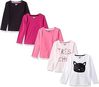 Amazon Brand - Spotted Zebra Girls' 5-Pack Long-Sleeve T-Shirts
