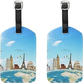 Lezed Etiquette Bagage PVC Couleur /Étiquettes Valise Accessoires de Voyage Pr/évenir Les Bagages Perdus 5 Pi/èces