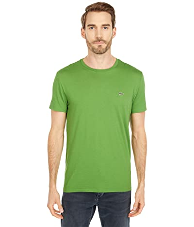 Lacoste Short Sleeve Pima Crew Neck Tee (Macintosh Green) Men