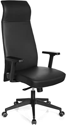 hjh OFFICE 600957 Savona - Silla de oficina, napa de color negro