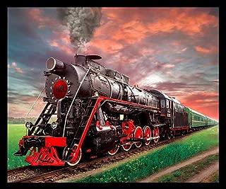Train Steam Engine Fleece Throw Blanket 50