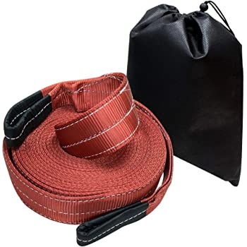 GearAmerica Recovery Tow Straps 3 x20 Strength Tie 17.5 US Ton Emergency Off Road 4x4 Towing Triple Reinforced Loops Protective Sleeves Free Storage Bag Heavy Duty Tested 35,000 lbs