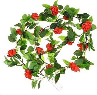 FRCOLOR Flower Rose String Lights, Red Rose Fairy Light Garland Plant Light for Valentines Wedding Party Bedroom Decoratio...
