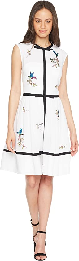 Iina Bow Detail Embroidered Dress