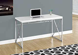 white table chrome legs