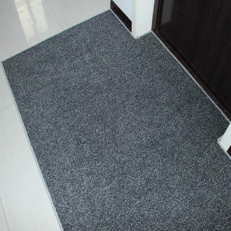 Waterproof Door Mat, Carpet Entrance Door Mat Non-Slip Door Mat Easy to Clean-Black 20x31inch