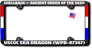 Shellback USCGC SEA DRAGON (WPB-87367) License Frame w/Reflective Text & Ribbons