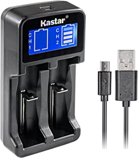 Kastar Intelligent LCD USB Charger for 25R, 26650, 18650, 18500, 18490, 18350, 17670, 17500, 16340, RCR123, 14500, 10440 3.7V Lithium Batteries, A AA AAA AAAA Ni-MH / Ni-CD 1.2V Batteries