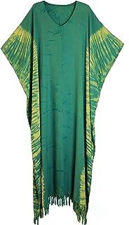 ATM Long Dress Caftan Kaftan Poncho Fadeless Color Tie dye Plus Size