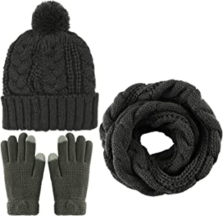 Best womens matching hat scarf and glove set Reviews
