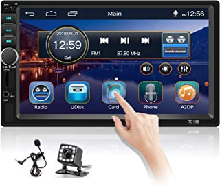 $63 » Sponsored Ad - Hikity Double Din Car Stereo 7 Inch Touch Screen Car Radio with Bluetooth FM AUX-in Dual USB SD Input Port ...