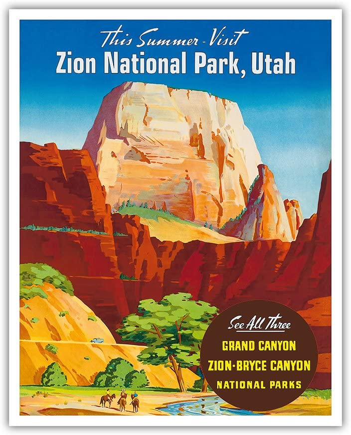 New product type Zion National Park Utah - Popular standard Throne Great White Vintage Monolith