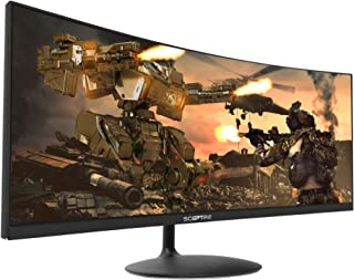 Sceptre 34-inch Curved UltraWide 21: 9 Creative LED Monitor 2560x1080 Frameless HDMI DisplayPort Up to 100Hz, Machine Blac...