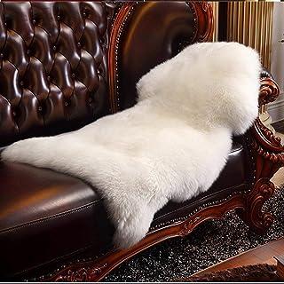 comprar comparacion HLZDH Alfombra, piel de oveja, imitación de cordero, piel sintética decorativa, super suave, pelo largo, efecto piel, para...