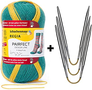Sock Starter Kit REGIA Pairfect (9136 - Garden) + addi CraSy Trio aka Flexi Flips (US1/2.25mm)