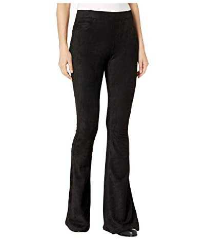 Blank NYC Faux Suede Pull-On Flare Pants (Black) Women