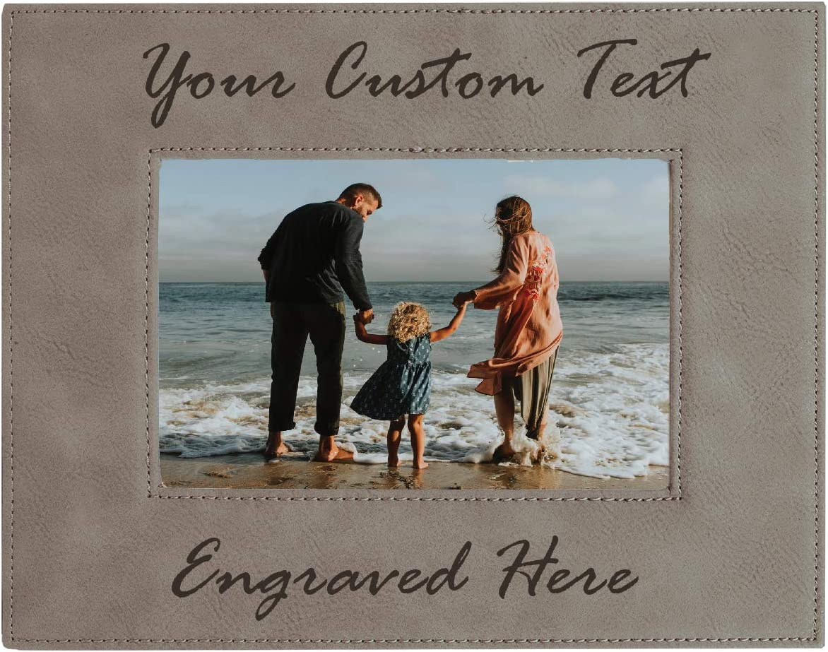Many popular brands Personalized Picture Frame Max 42% OFF - Custom Photo Leatherette F Engraved