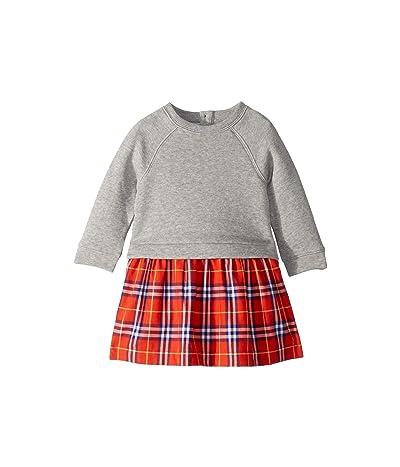 Burberry Kids Francine Dress (Infant/Toddler) (Orange Red Check) Girl