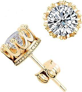 Women Silver Earrings Classic Crown Shaped Jewelry WW2253
