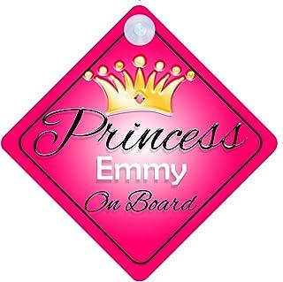 Non personnalisé enfant//bébé à bord voiture signe ~ mes princesses à bord ~ rose