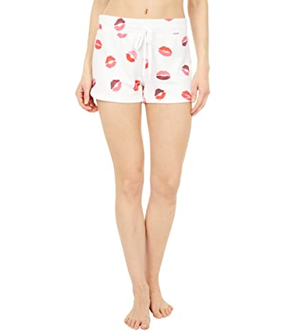 P.J. Salvage Sealed with A Kiss Hearts Shorts (Ivory) Women
