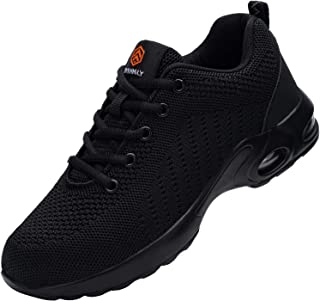 DYKHMILY Steel Toe Work Shoe Men Women Trainers Shoes Puncture-Proof Work Safety Sneakers Light Breathable Industrial & Co...