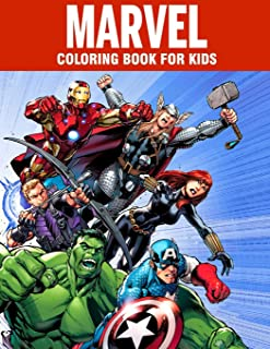MARVEL coloring book for kids: Super Heroes illustrations for boys and girls (age 3-10) Avangers: Iron Man, Thor, Hulk, Ca...