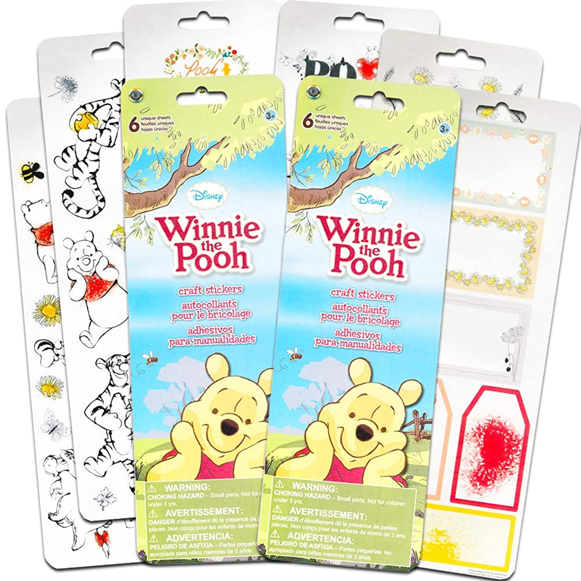 Disney Winnie the Pooh Stickers for Scrapbooking, Decorations, Arts and Crafts ~ Over 100 Premium Winnie the Pooh Stickers (Set of 2 Sticker Packs)