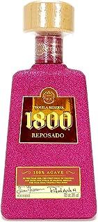 Jose Cuervo Essential 1800 Reposado Tequila 0,7l 700ml 38% Vol - Bling Bling Glitzer Glitzerflasche Flaschenveredelung für besondere Anlässe - Hot Pink -Enthält Sulfite