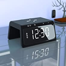 $29 » Sponsored Ad - Digital Alarm Clock with Wireless Phone Charger for Bedroom Alarm Clock with Colorful Bedside Night Light T...