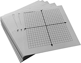 Mini Graph STICKER - 100 Count Individual Stickers - Graph Paper Individual Stickers 20 x 20 Four Quadrant