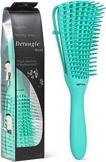 BESTOOL - Cepillo desenredante para cabello rizado, húmedo o seco, para cabello natural, negro rizado, menos tirón, menos dolor, menos dañado (menta)
